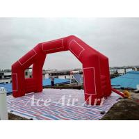 Cheap custom 20' 4 legs inflatable door arch model with removable logo & blower for finish line in sport for sale
