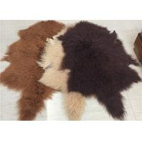 Quality 2 * 4 Feet Home Upholstery Mongolian Lamb Throw Blanket With Hide Pelt wholesale