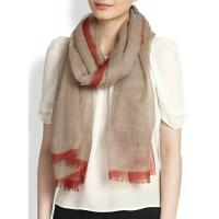 Quality Contrast Border Wool Scarf wholesale