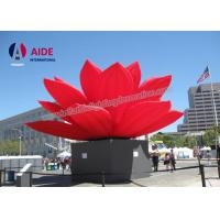 Quality Outdoor large Inflatable Event Decoration Display Use Inflatable Red Lotus Flower wholesale