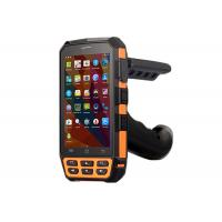 China Handheld Android Mobile Barcode Scanner RFID HF UHF Reader PDA with Pistol Grip on sale