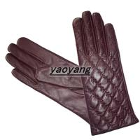 Quality 2015 new style and fasion ladies sheepskin leather gloves YYLL078 wholesale