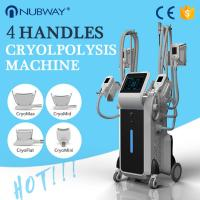 Quality 4 handles coolsculpting cryolipolysis fat freezing slimming system 4 handles work at the same time wholesale