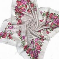 Quality 100% Silk Scarve, Measures 90 x 90cm, Samples Order are Welcome wholesale