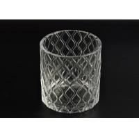 Quality Pillar Cut Glass Candle Holders Decorative Glassware Customizable wholesale