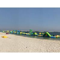 Quality 350 people 212*40m Inflatable Water Park Logo Printed wholesale