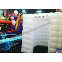 Cheap Indoor Commercial Party Photo Booth Decorations , White Inflatable Cube Tent for sale
