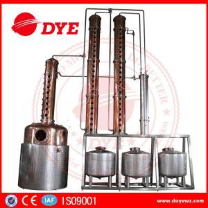 Quality Distillery Brandy Gin Vodka Alcohol Copper Still Equipment CE Certificate wholesale