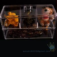 Quality clear acrylic jewelry organizer box wholesale