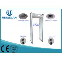 Quality White 18 Zones Walk Through Metal Detector High Density Fireproof With Led Indicator wholesale