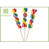 Quality Biodegradable Wooden Lollipop Sticks With Ball Hot Stamping Logo Printed wholesale