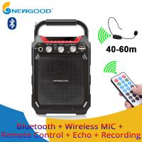 China Remote Control Echo Recorder Amplifier Sound Speaker FM Radio Professional Audio Voice Portable Bluetooth Speaker on sale