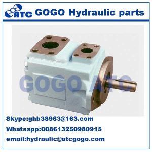 China Parker Denison powerful Hydraulic Oil Pump , Pressure vane axial piston motor T6CCM double vane pump on sale