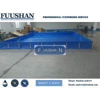 Quality Fuushan PVC Tarpaulin Collapsible Fish Farming Tank Portable 300/400/500 Gallon FishTank wholesale