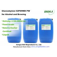 Quality Saccahrification Enzymes Glucoamylase Enzyme Activity 150,000 U / Ml For Alcoholic and Brewing wholesale