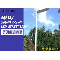 Quality Aluminum Solar Powered Road Lights IP65 Wall / Pole Mount Night Area Security Lighting 3000LM wholesale