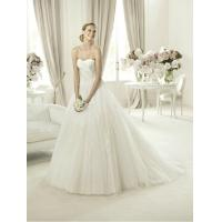 Quality Modern Strapless Ball Gown Sweetheart Lace Wedding Dress for Summer , Spring wholesale