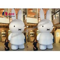 Quality White Inflatable Bunny Rabbits , Rent Busniess Inflatable Character Balloons wholesale