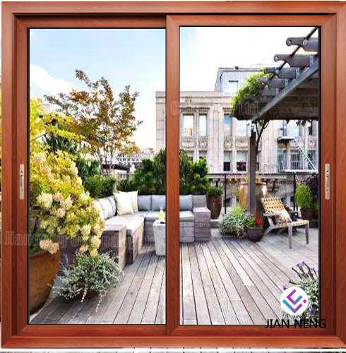 Cheap Thermal Break Residential Aluminium Casement Door Sliding Door With Security Mesh for sale
