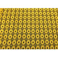 Quality Yellow Round Pattern Designer Nylon Lace Fabric For Fashion Apparel wholesale
