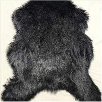 Quality Soft Plush Faux Fur Rug Low Shed Classsic Black Luxury Long Pile Shag wholesale
