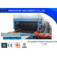 Quality Discontinuous PU Sandwich Panel Machine Double Rubber Tracker wholesale