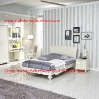 Quality Neoclassical design Single Bed Apartment Interior Furniture with Bookcase set and Small wardrobe wholesale