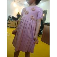 Quality Funky Girls Fall Dresses Little Girl Ruffle Dresses Pink Sliver Lurex  Roses Decorations wholesale