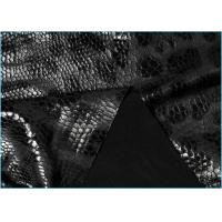 Quality Meryl Snake Skin Stage Cloth Leather Spandex Fabric for Catsuits , Leggings 1.5m * 160gsm wholesale