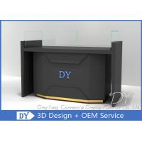 Quality Matte Black Store Jewelry Display Cases / Jewellery Counter Display wholesale