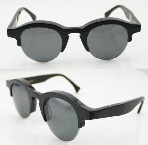 Quality Black Lightweight Acetate Frame Sunglasses , Vogue Sun Glasses wholesale
