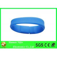 Quality Custom Blue Silicone USB Bracelet Flash Drive 208*18*8mm for Promotional Gifts wholesale
