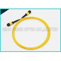 Quality 40Gbps 3.0mm 12 Array MPO to MPO Singlemode SMF-28e Fibre Optical Riser Rated Patch Cable wholesale