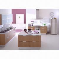 China MFC Kitchen Cabinet, E1 or E2 without Formaldehyde, Customized Sizes and OEM Orders are Accepted on sale
