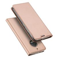 Quality Rose Gold Dux Ducis Mobile Leather Flip Phone Case Moto G5s Plus With Stand wholesale