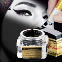China 5 Ml Black Semi Permanent Makeup Pigments Microblading Ink For Eyebrow Tattoo on sale