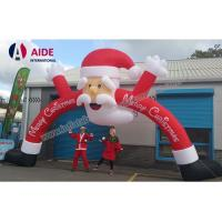 Cheap Merry Christmas Day Inflatable Santa Archway Decoration Blow Up Arch Welcome for sale