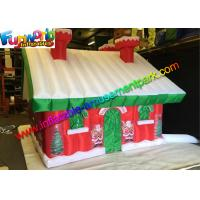 Quality Custom Oxford Inflatable Christmas Decorations Santa Claus House wholesale