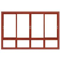 Quality Float Glass Double Interior Aluminium Sliding Windows Waterproof Red Cherry Color wholesale