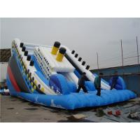 China Outside Titanic Large Inflatable Slide For Pool Customized Size Eco Friendly on sale