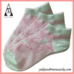 Quality Pink Star Low Cut Fashion Cute Cotton Socks wholesale