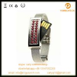 China Crystal Watch Flash Disk, Jewelry Pen Drive, Jewelry Bracelet USB on sale