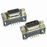 China D-sub PCB Solder Connectors with Copper Alloy Contacts and Thermal Plastic Insulator on sale