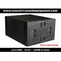 "Quality Line Array Sound System / 2x18"" Horn Loaded 4ohm 1200W Subwoofer For Concert And Living Event wholesale"