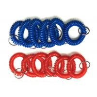 Buy cheap Plastic Wrist Key Chain Coils Popular Blue / Red Promotional Safe Holders / Strings from wholesalers