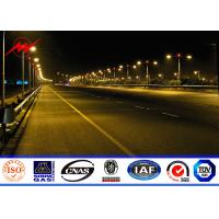 China Hot Dip Galvanized Outdoor Street Lighting Poles 5M To 8M With Double Curved Arm on sale