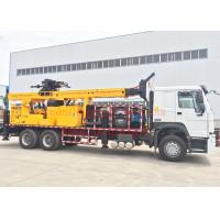 Quality Rotary Mobile Borehole Drilling Machine , Truck Mounted Water Well Drilling Equipment wholesale