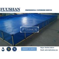 Quality Fuushan PVC Tarpaulin Mobile And Collapsible Large Plasitc 20000 Liter Fish Tank wholesale