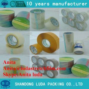 China Luda Low Price Bopp Transparent Packing Tape Packaging Tape Carton Sealing Tape on sale