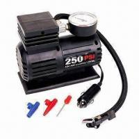 China 12V DC Mini Air Compressor, 10ft Power Cord with Switch and Cigarette Lighter plug on sale